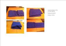 towel thirds folds variant